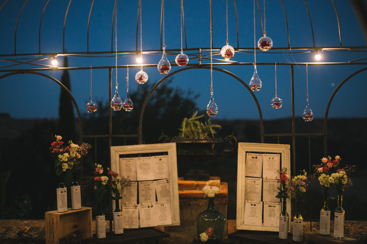 seating plan, decoración de una boda en el palacio de aldovea