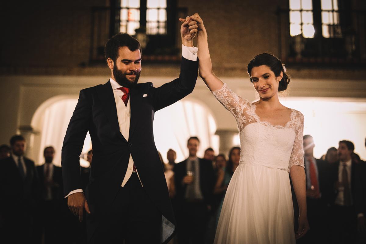 baile de novios, vestido de novia