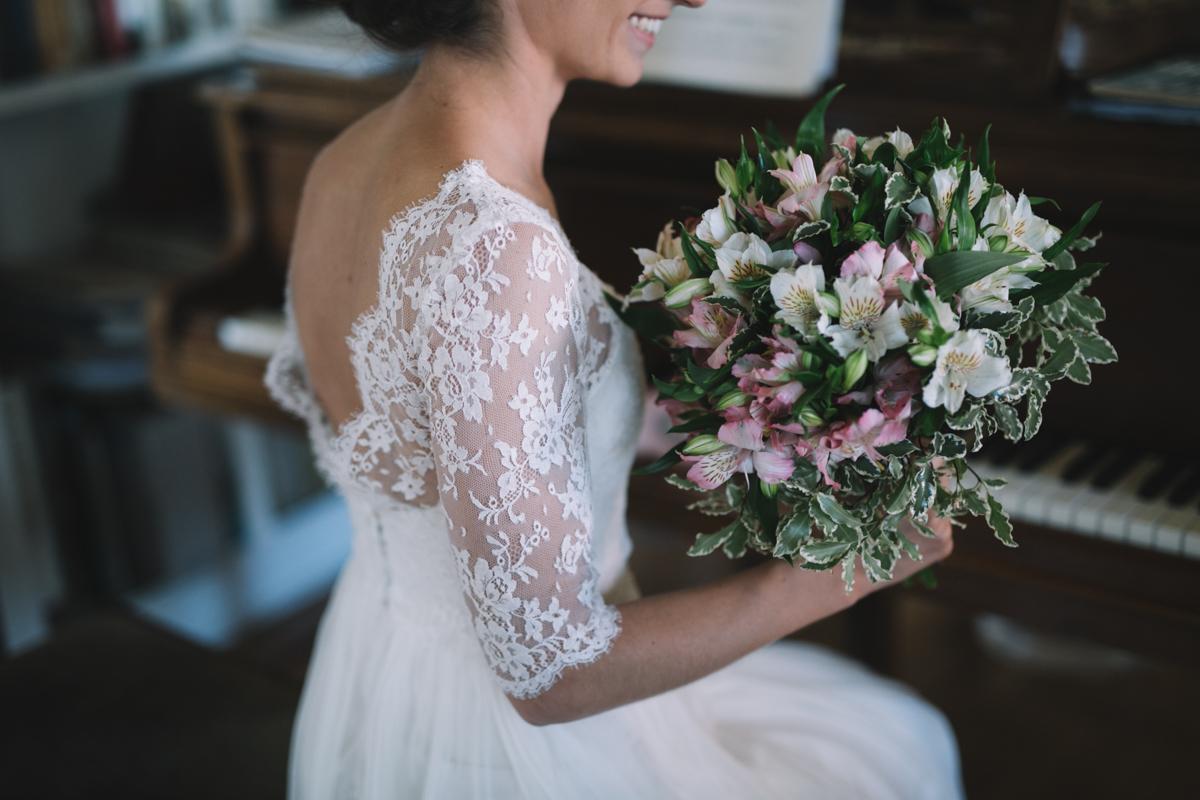 bodas, ramo de novia romántico