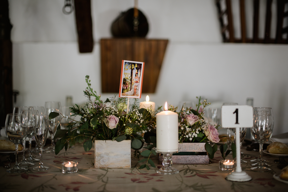 centros mesa boda postales
