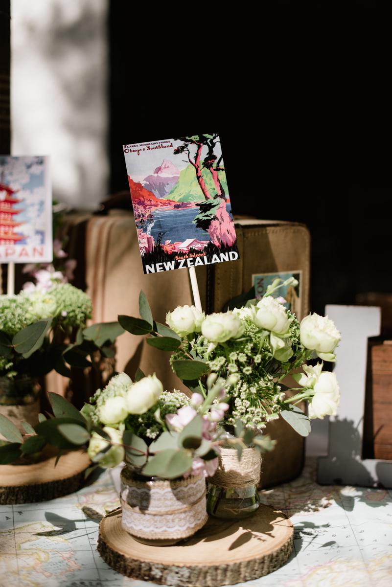 detalle boda rústica vintage maleta