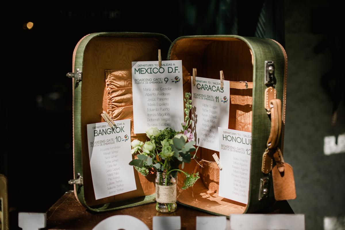 maleta vintage boda