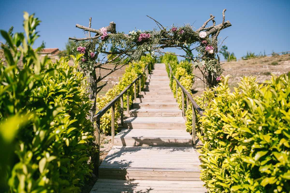 arco flores boda las margas