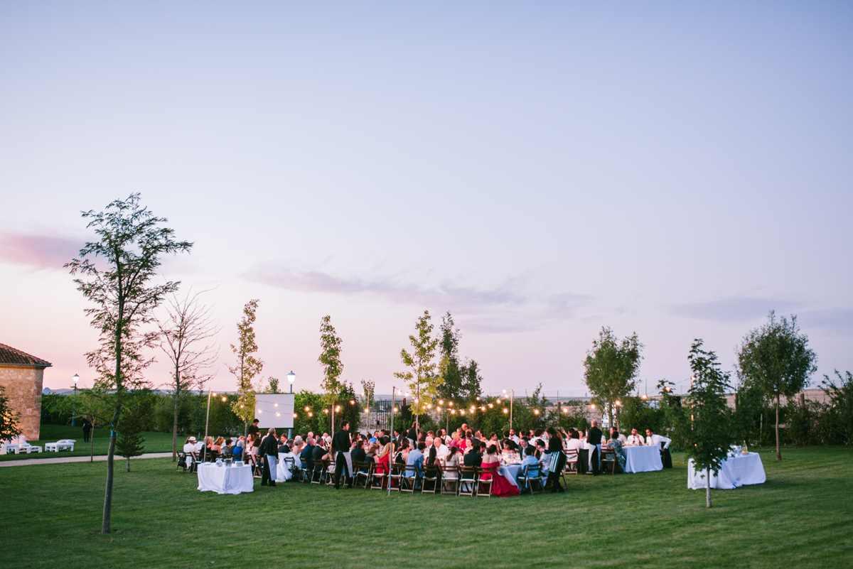 boda rústica guirnaldas luces