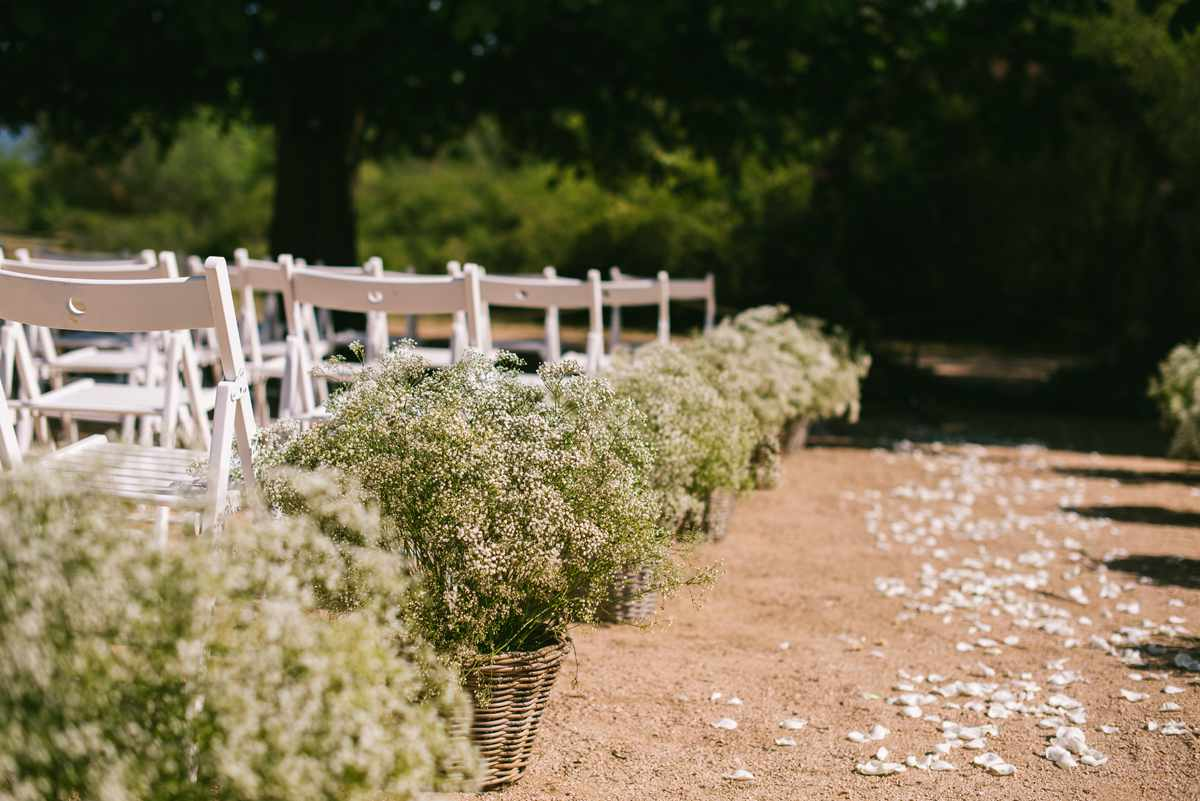 cesto paniculata ceremonia boda