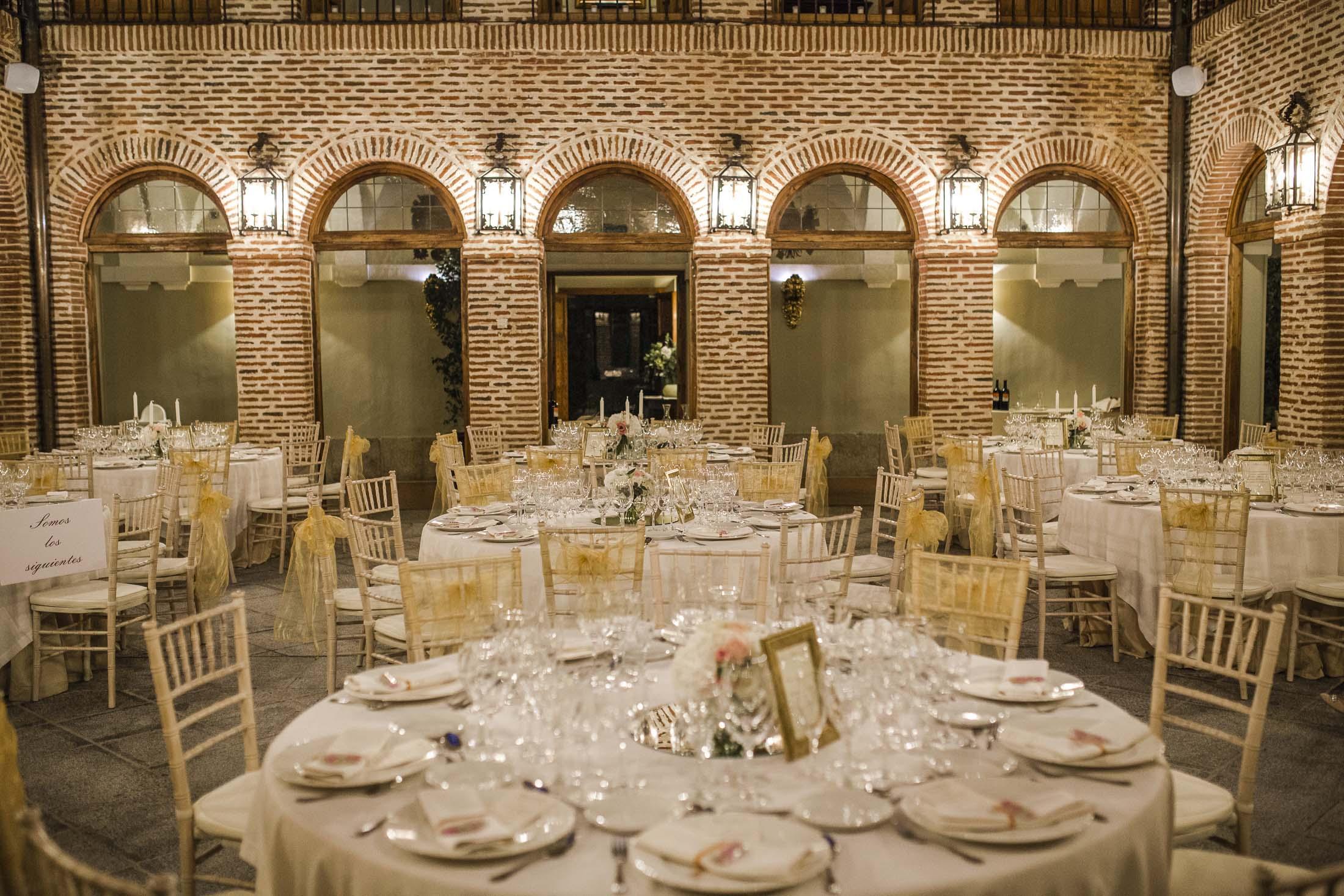 decoración mesas cena boda convento boadilla