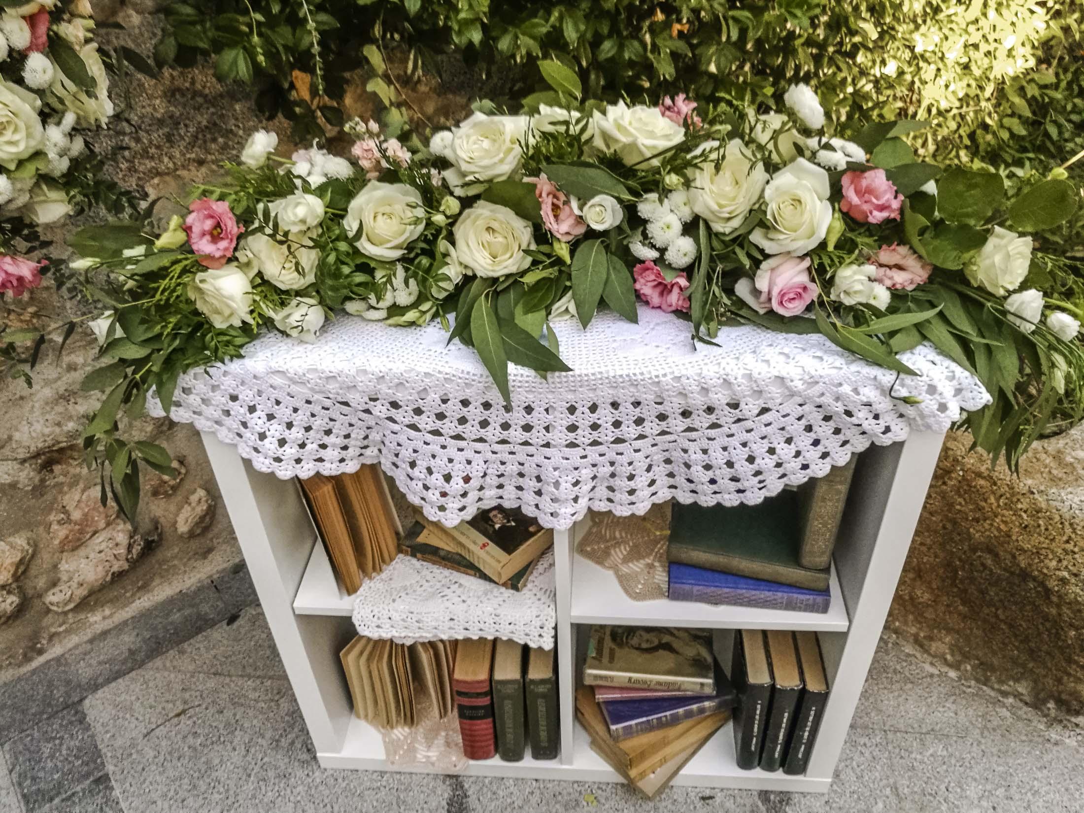 detalle decoración boda romántica y vintage