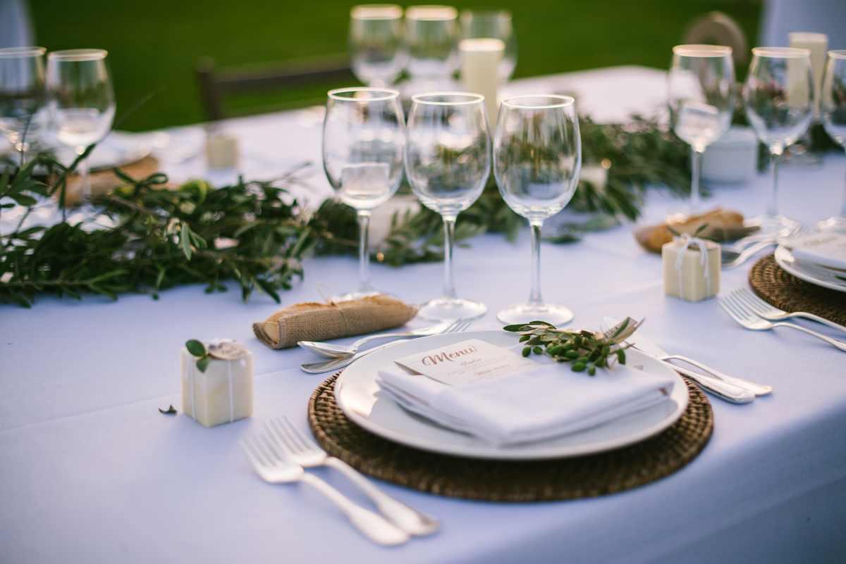 mesa boda rústica decoración olivo