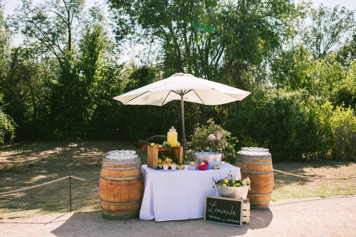 mesa limonada boda las margas decoración