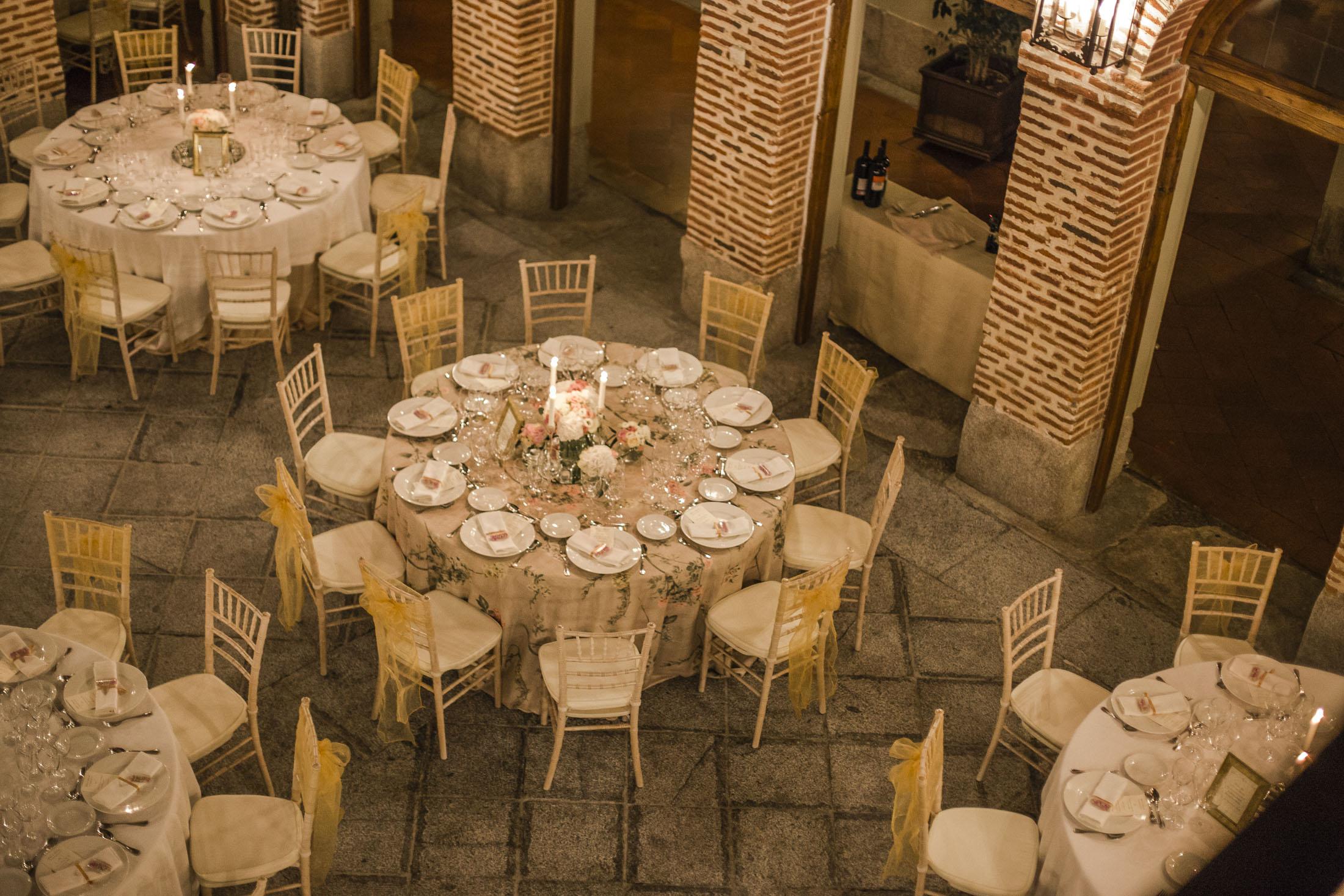 montaje cena boda_decoración de boda
