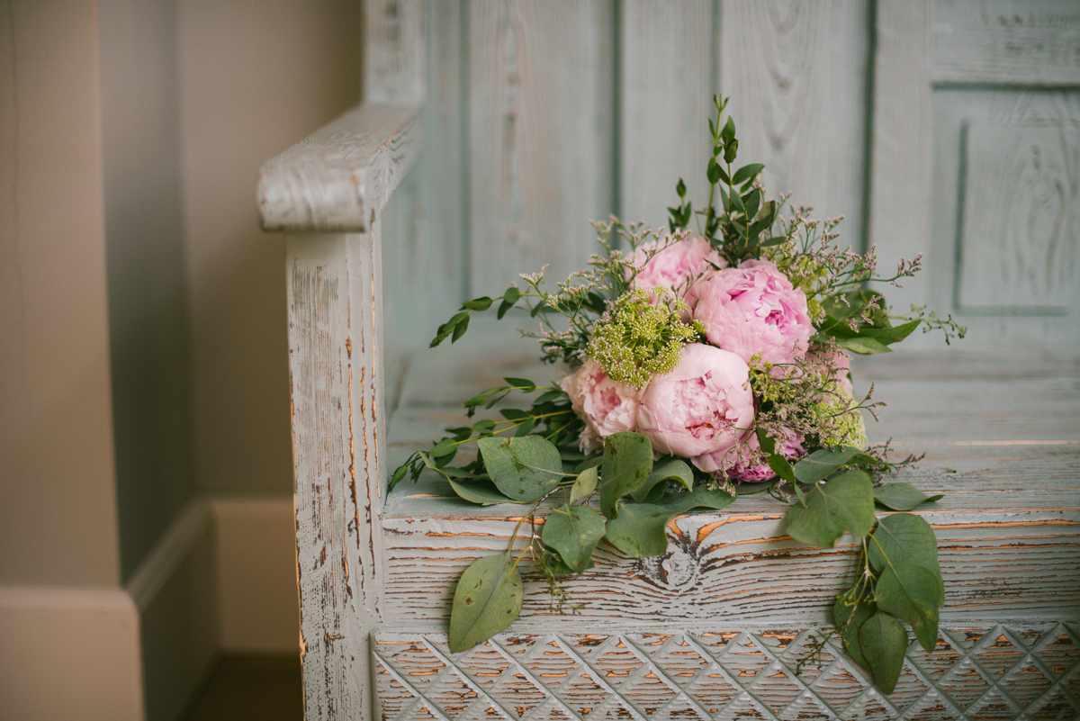ramo novia peonia rosa